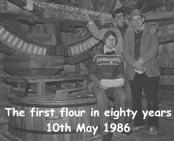 First flour for eighty years - 10th May 1986 : Photo Danny Jarmann
