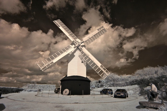 Infra Red Windmill : Photo by Matthew Stevens