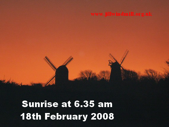 Sunrise at 6.35 am  on 18th February 2008 : Photo by J P Rafferty